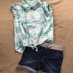 Girls Summer Outfit size L 10/12